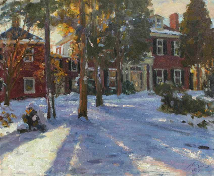 Longhill Winter, Oil on canvas, 20x24inches. [sold]
