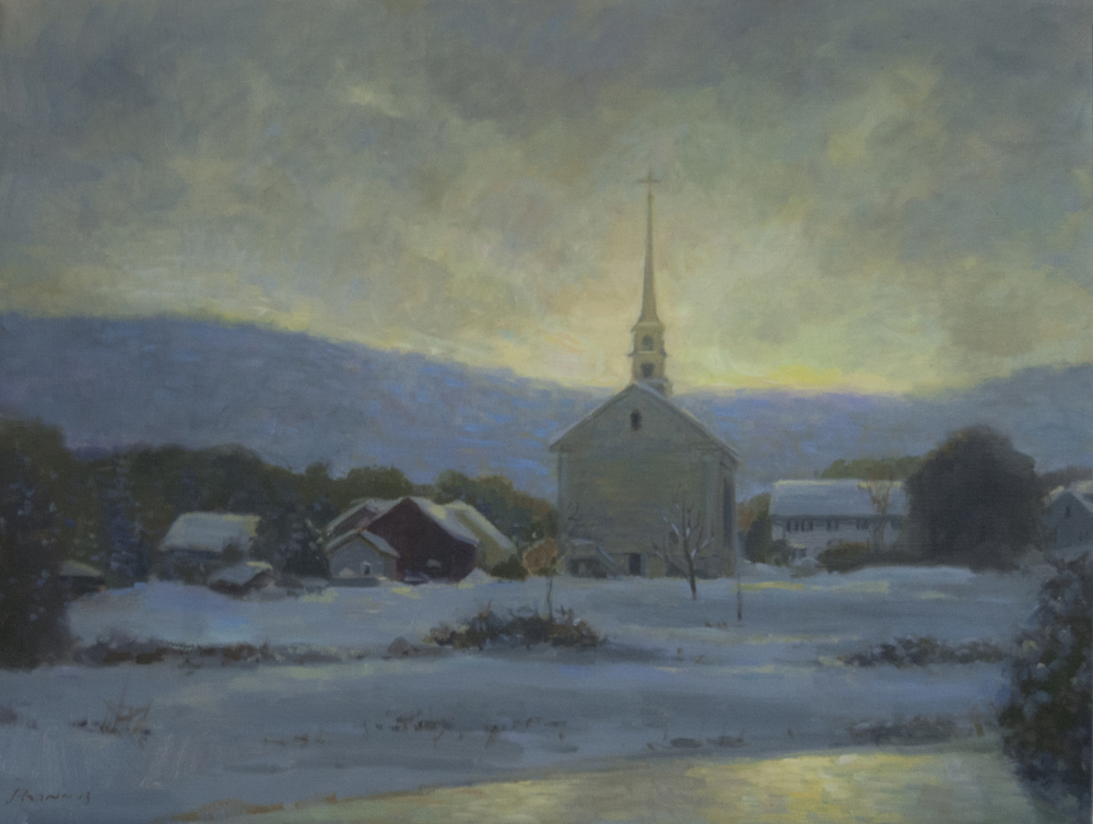 Stowe Light, Oil on linen, 18x24 inches. [sold]