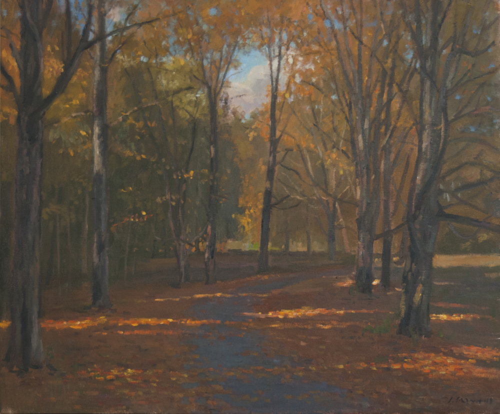 Fall Path, Oil on linen, 20x24 inches.