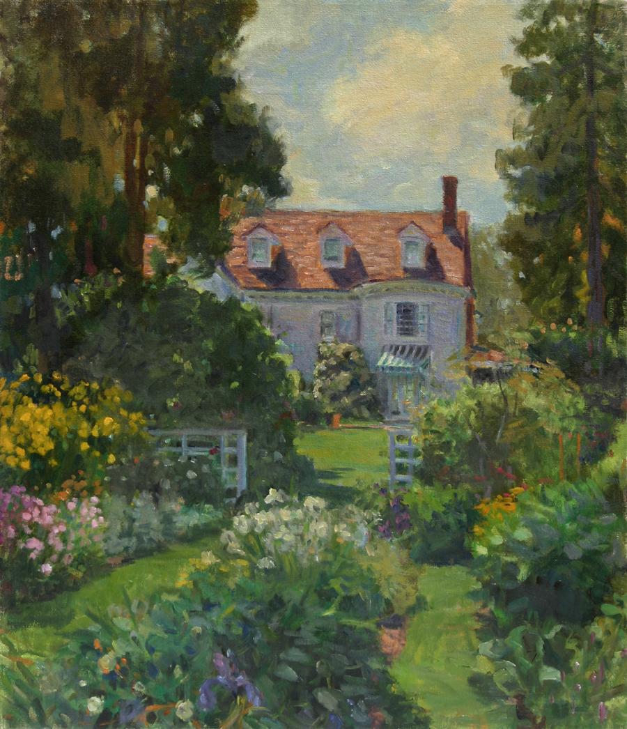 House Gardens, Oil on canvas, 28x22 inches. [sold]