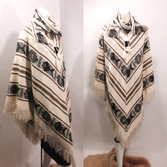 Gorgeous 1980s Southwestern poncho curated by my friend NY who just started a  badass vintage website on ETSY! Check her out!