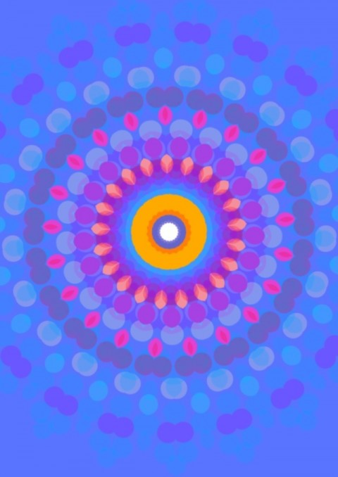 Passion Mandala,   digital art 2013   by Hank Hivnor