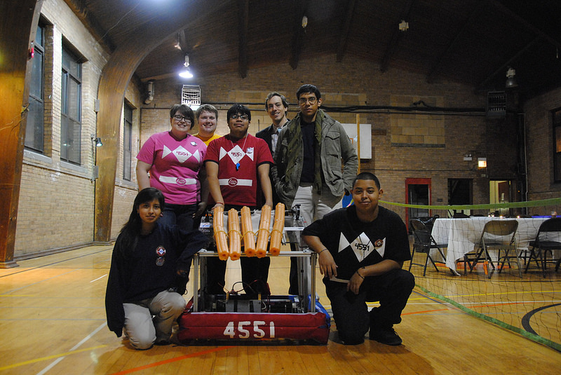 The Robotic Rangers with last year's robot