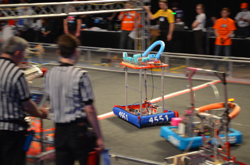 Benton House's 4551 Team Robotic Competing in the 2014 FIRST Robotics Competition