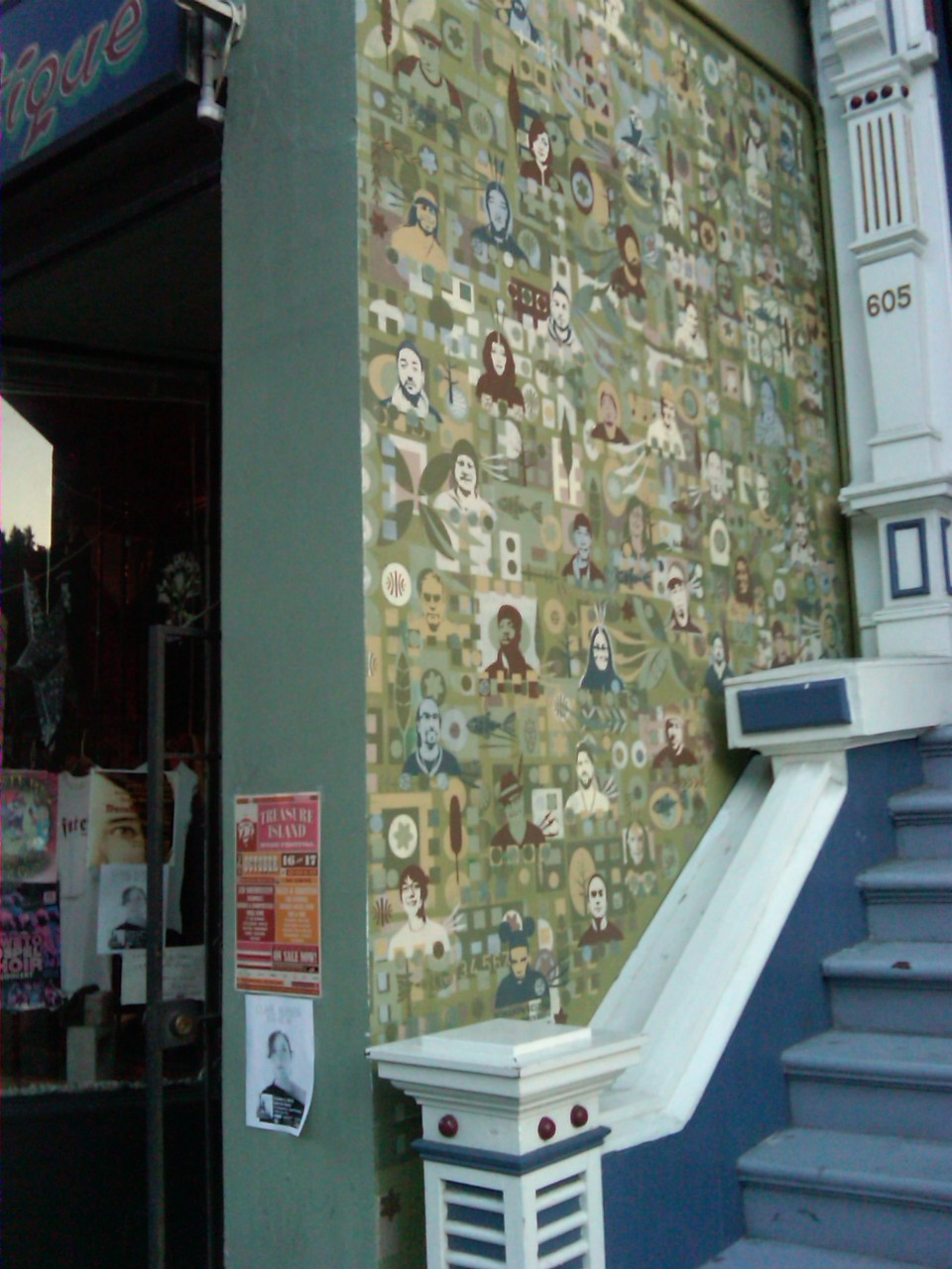 Lower Haight. All the portraits are people who work in the area & the mural is done by a local [SF] artist.