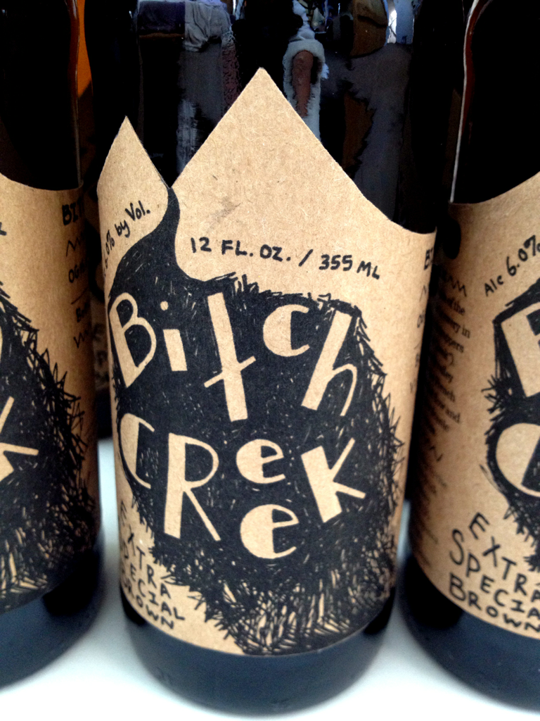 Front, shows the location of the creek while giving 'Bitch Creek' the attitude it deserves.