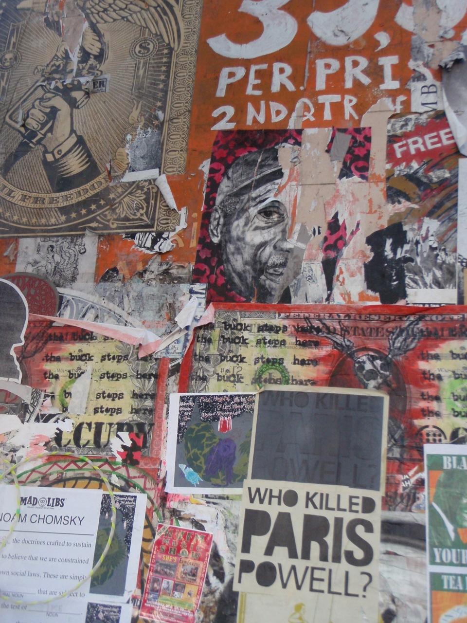 Paste Ups on Valencia St. in San Francisco