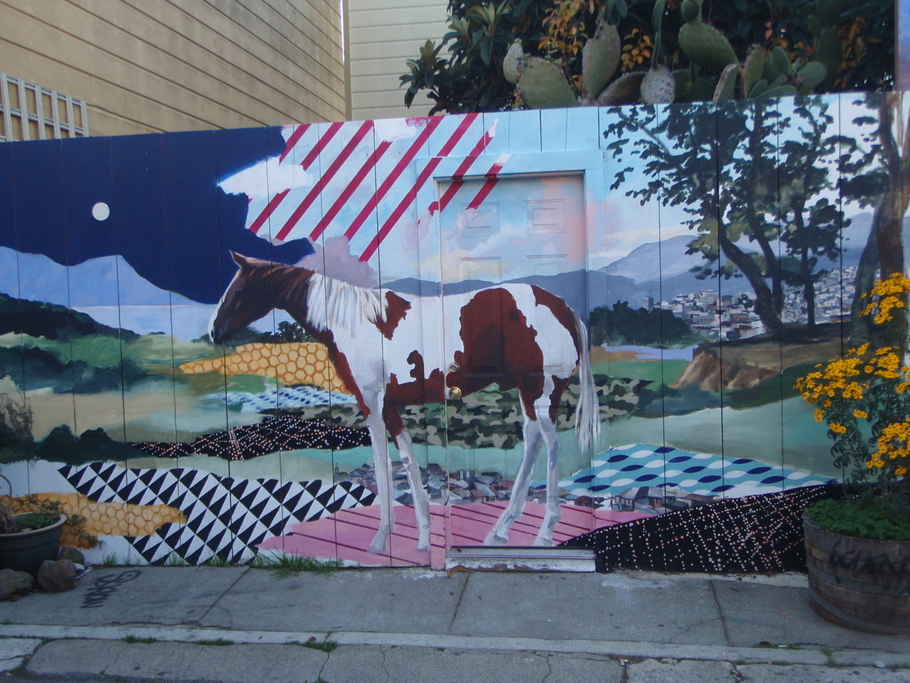 Mural on Balmy St. in the Mission District.