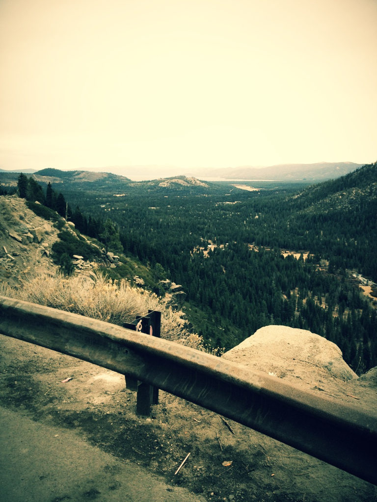 On the way to South Lake Tahoe.
