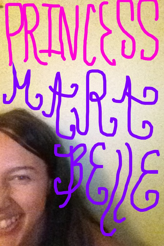Snapchat + Lettering    (in response to a video my mama's bf sent me of his 4 year old busting a gut)