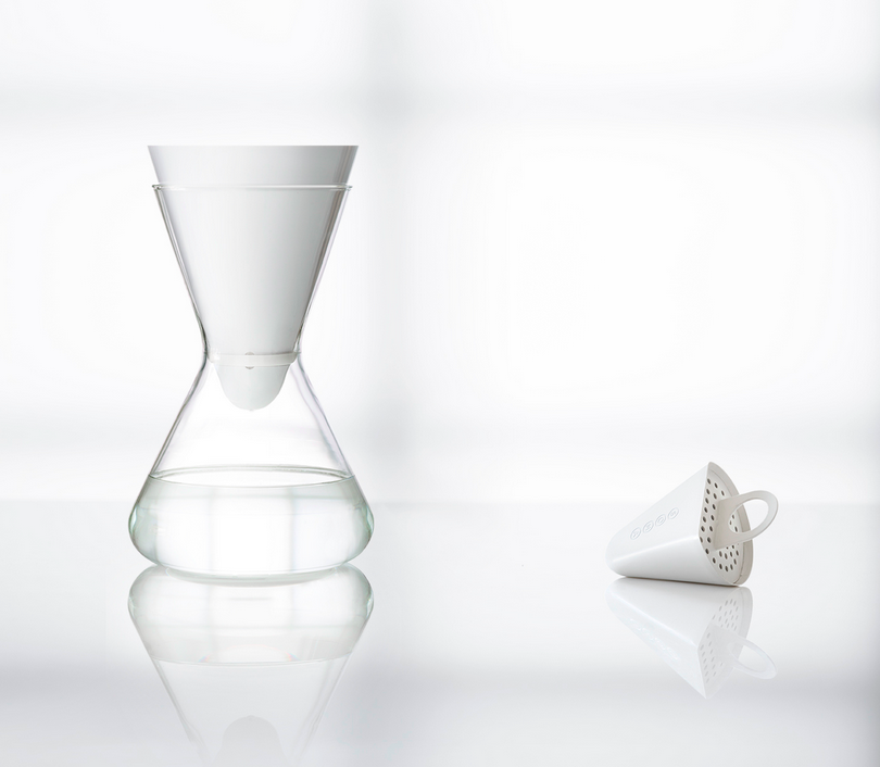 Soma water filter and glass carafe