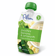 Plum Organics Second Blends Baby Food Fruit & Grain - Zucchini Banana & Amaranth