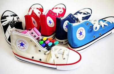 Shoe pencil pouches by Converse
