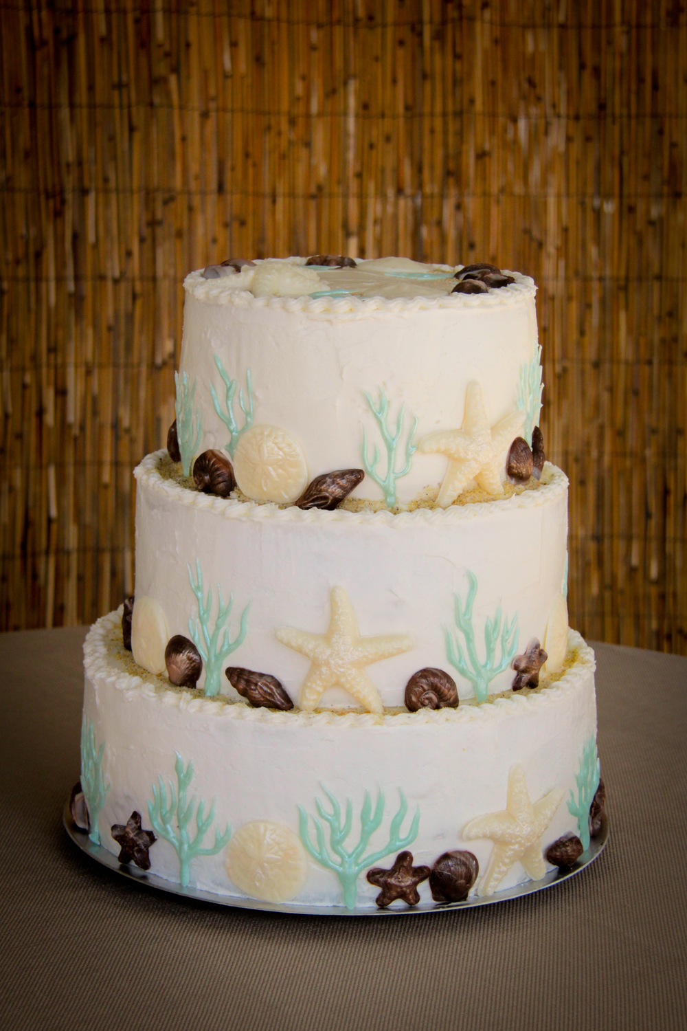 best beach wedding cake