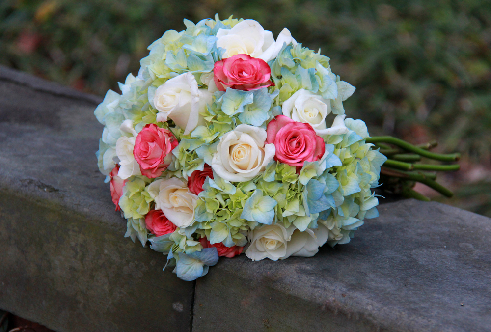 Savannah wedding brides rose bouquet