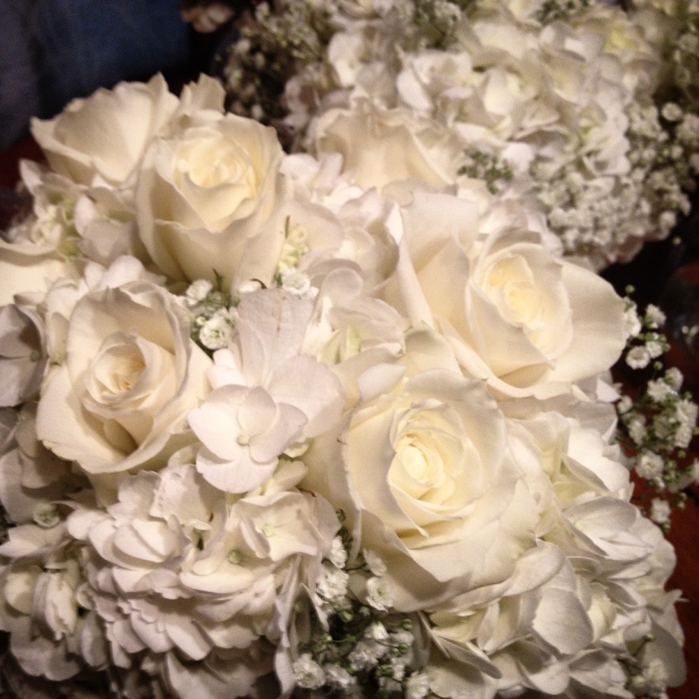 Bride's bouquet all white Savannah Wedding