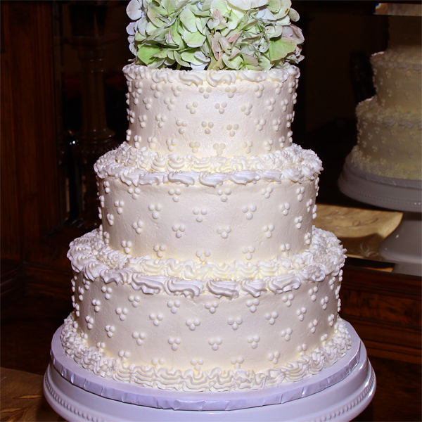 Savannah Wedding packages including wedding cake Southern wedding cake with dots and flowers