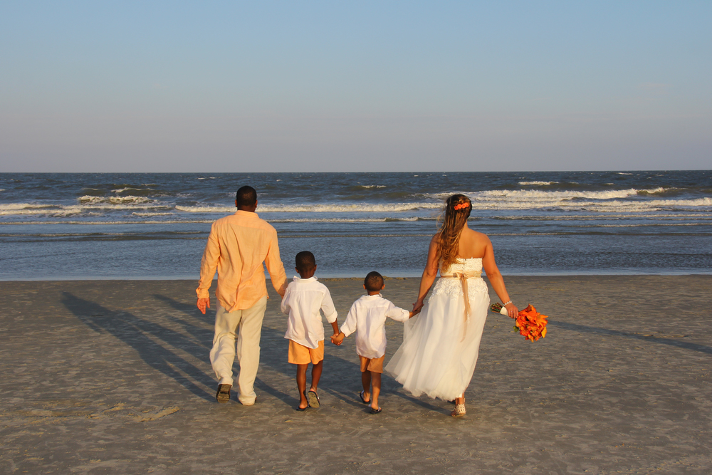 Hilton Head SC Beach Wedding with children family wedding Yes Love Weddings