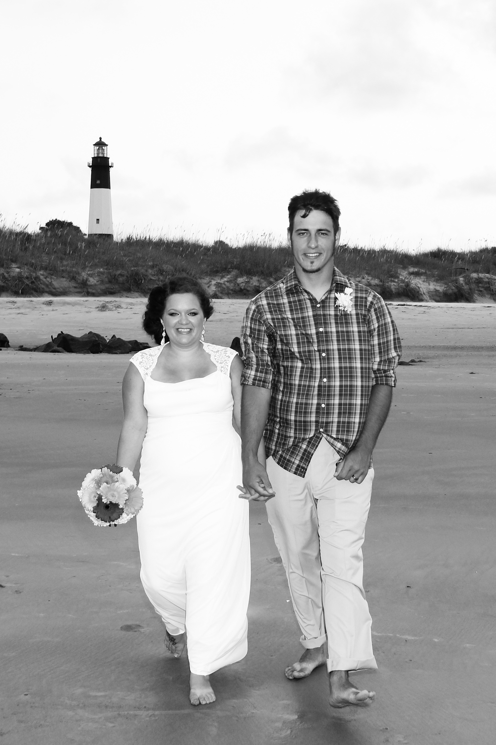 Tybee Island GA Lighthouse beach wedding