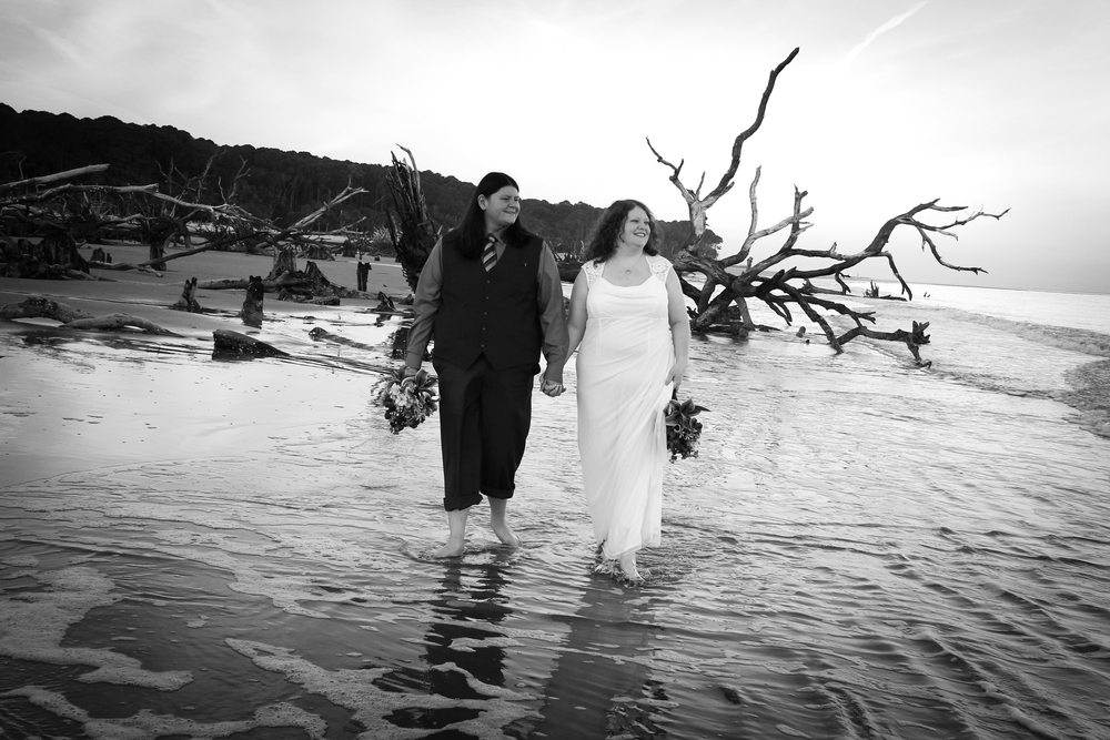 Hunting Island Driftwood Beach Wedding Elopement