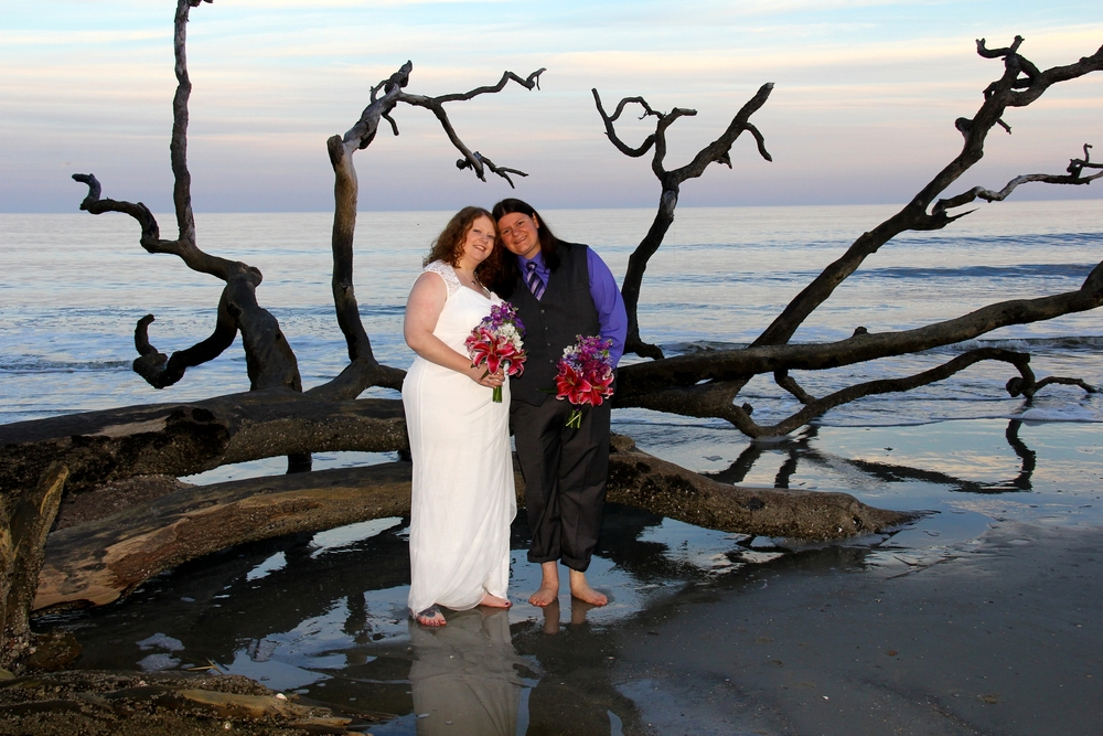 Driftwood Beach, Hunting Island State Park, SC Wedding Elopement