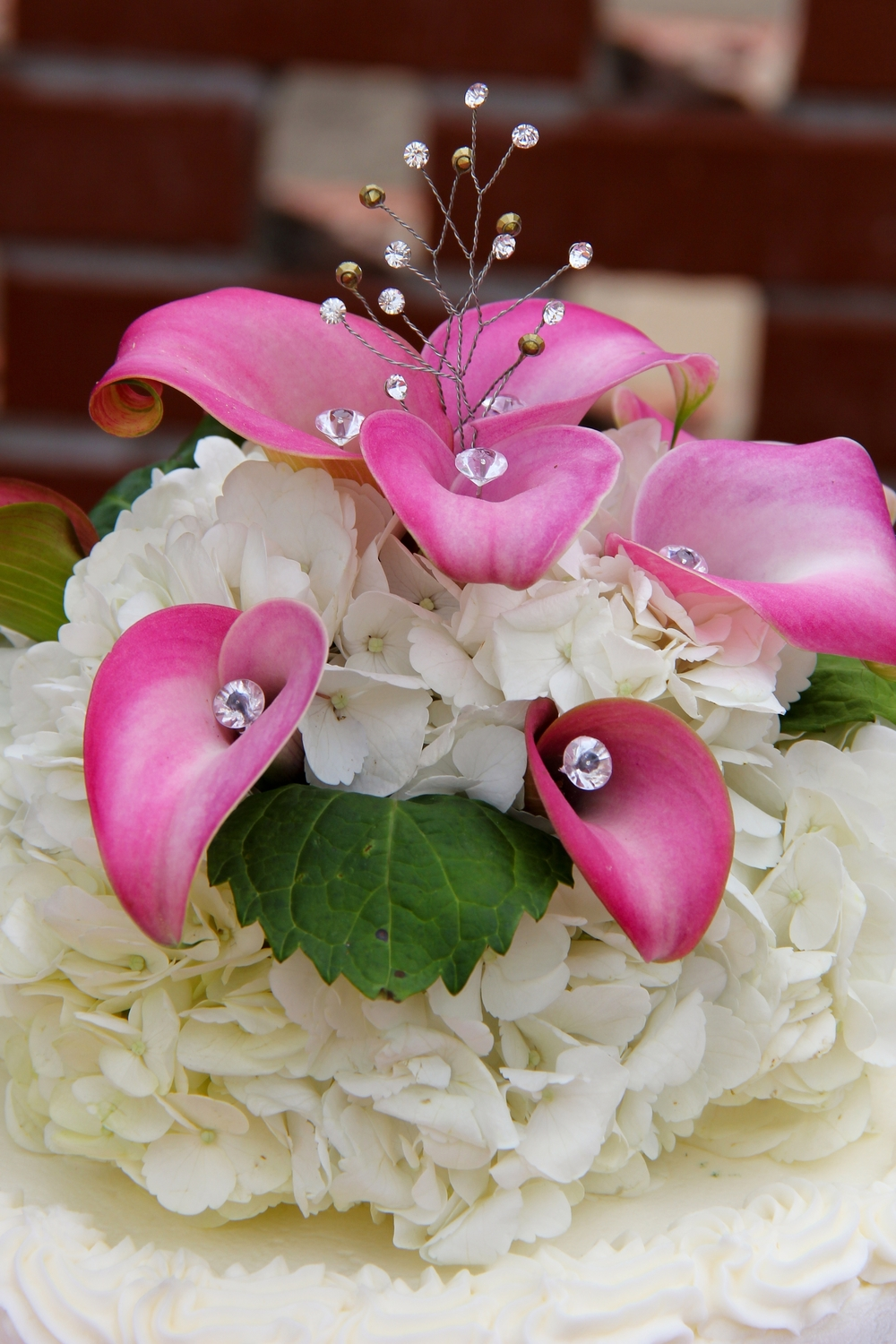 pink Calla lily cake topper