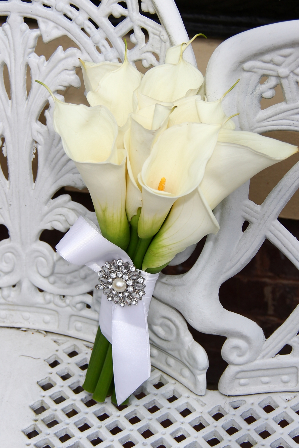 White Calla lily bride's bouquet