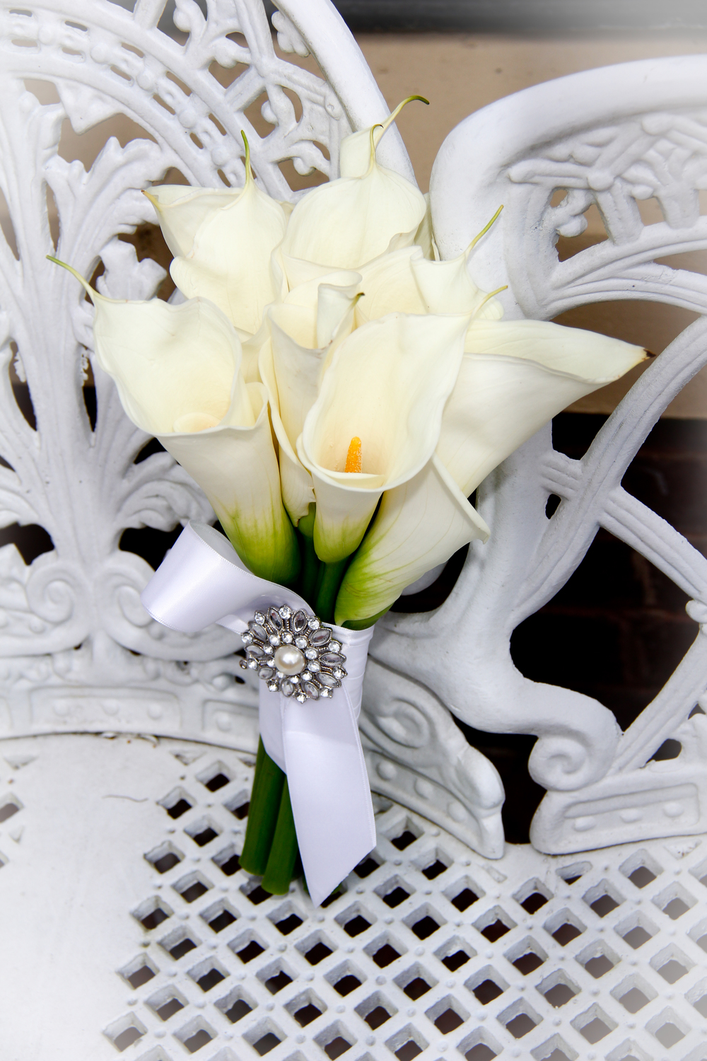 Savannah Wedding, Giant Calla Lily bride's bouquet, wedding flowers, white Calla