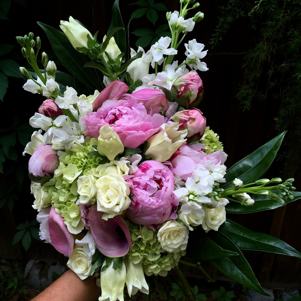 Peony bride's bouquet Wedding flowers