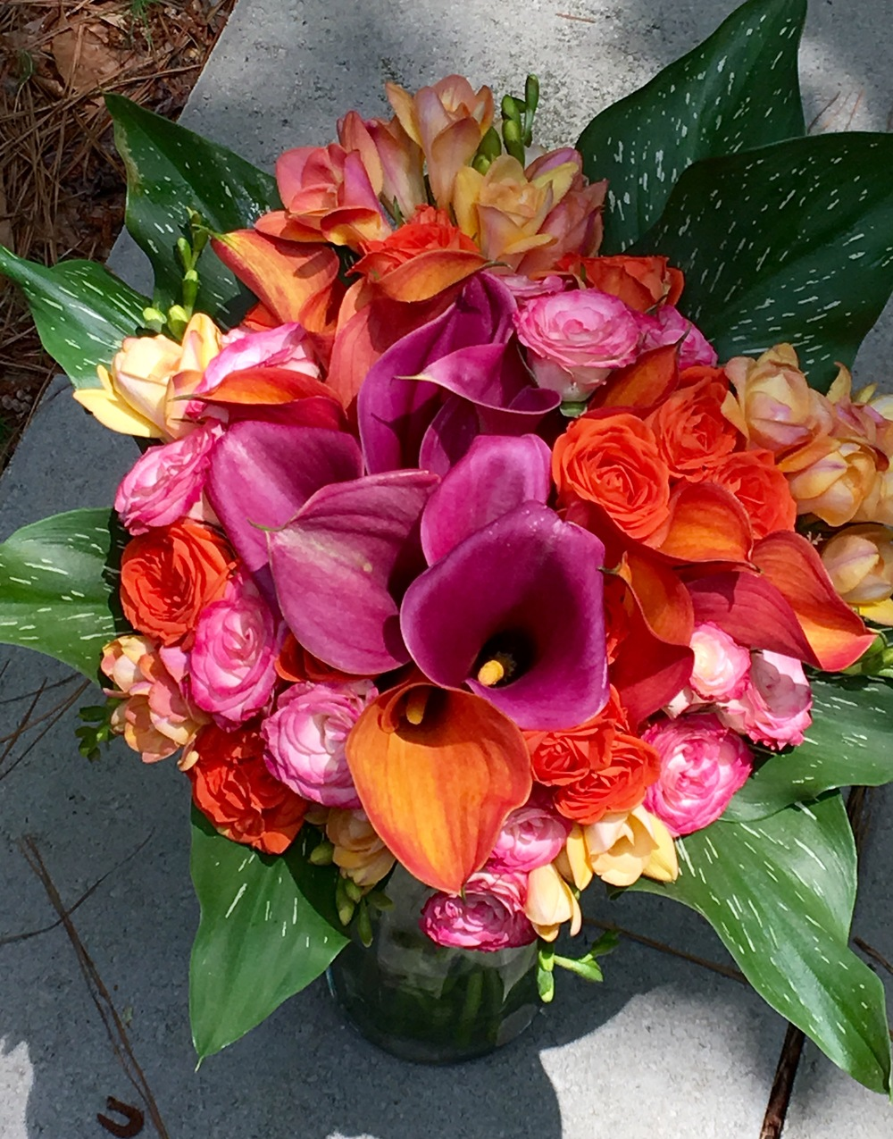 Wedding flowers Calla lily mix