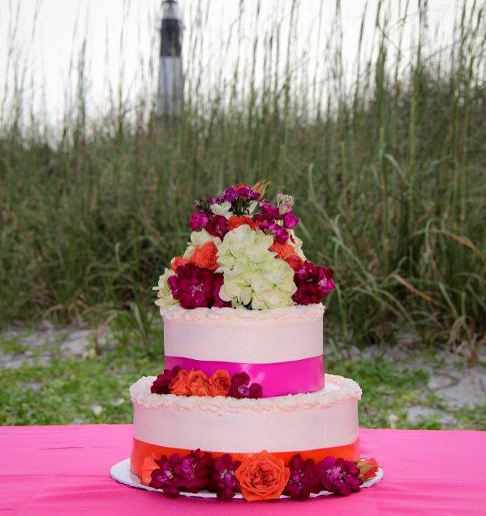Beach Wedding cake Tybee Island GA