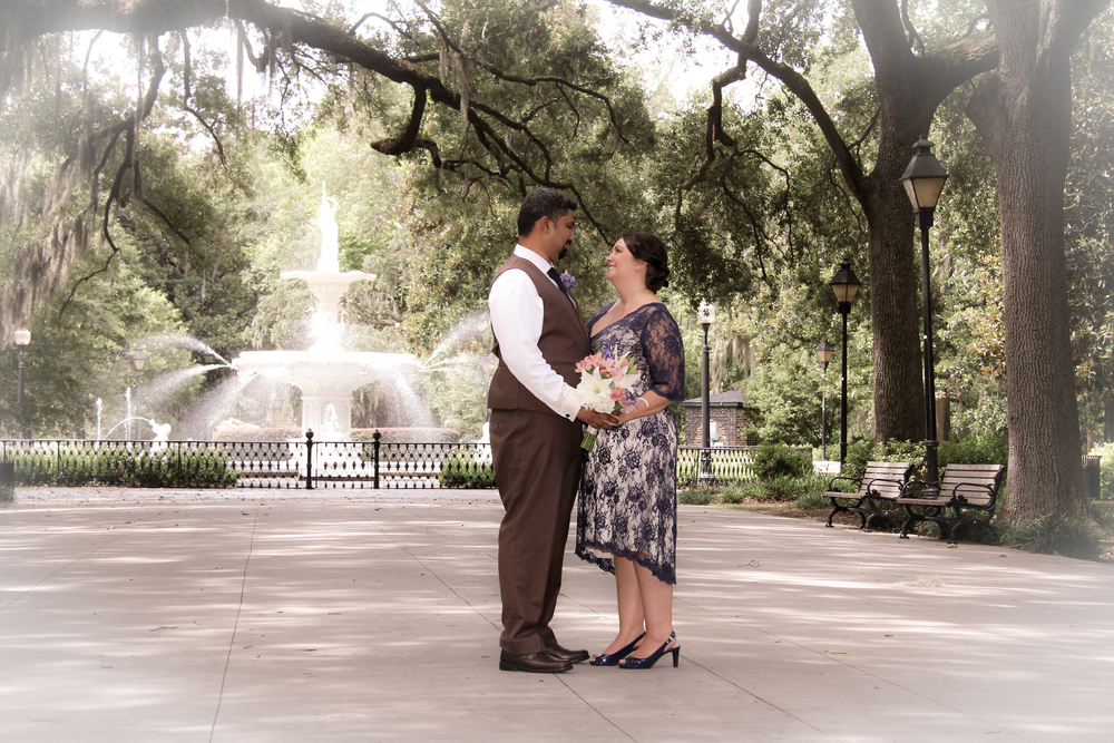 Savannah Wedding in Forsyth Park