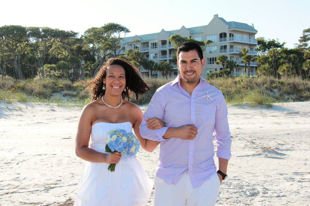 Beach wedding elopement Hilton Head Island SC