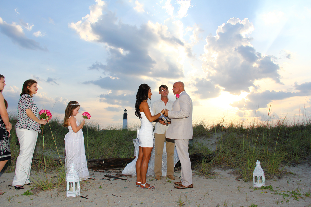 Tybee Island beach wedding elopement Savannah GA