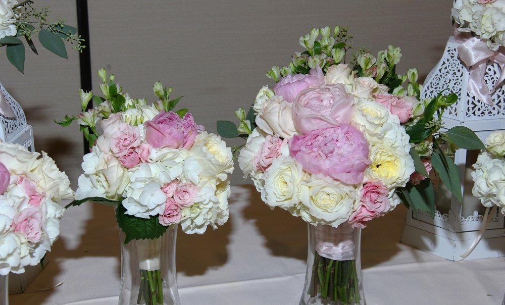 Pink Peony bride's bouquet