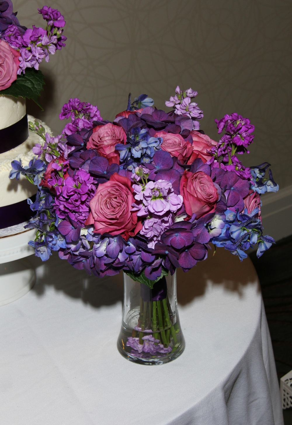 Best Purple Bride's bouquet