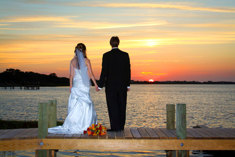 wedding photography, sunset wedding, hilton head, tybee island