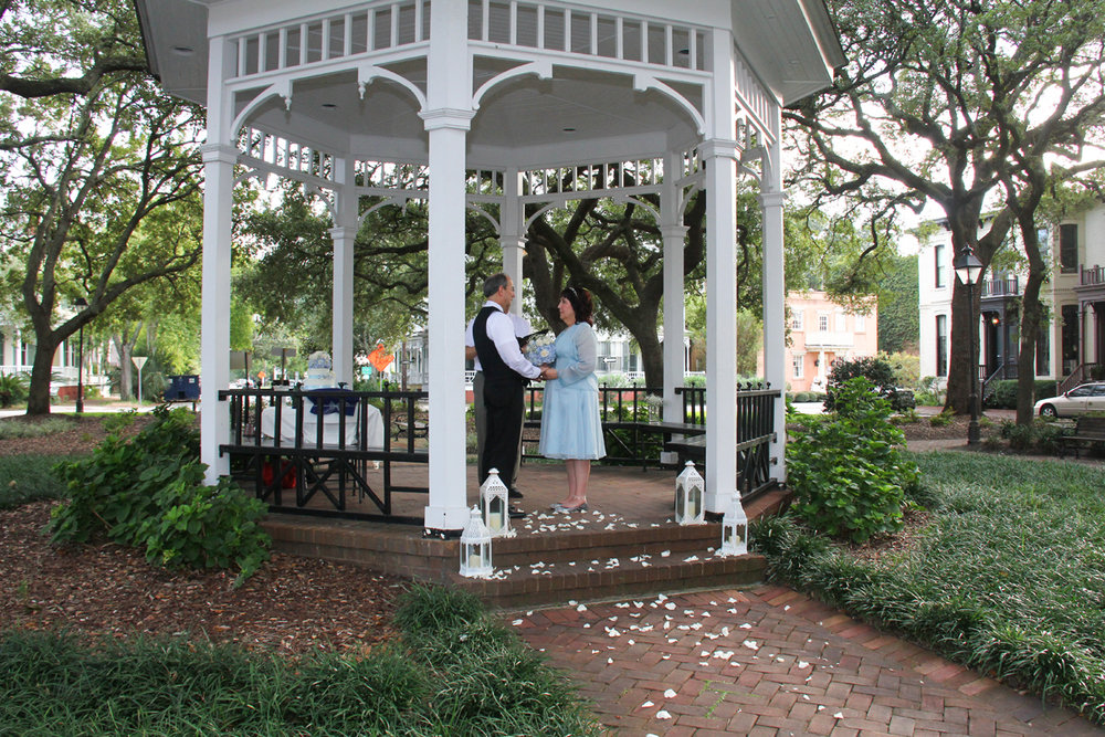 Savannah wedding in a park or square Whitefield square