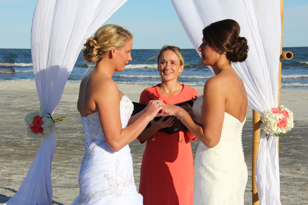 Hilton Head beach wedding, Same sex marriage