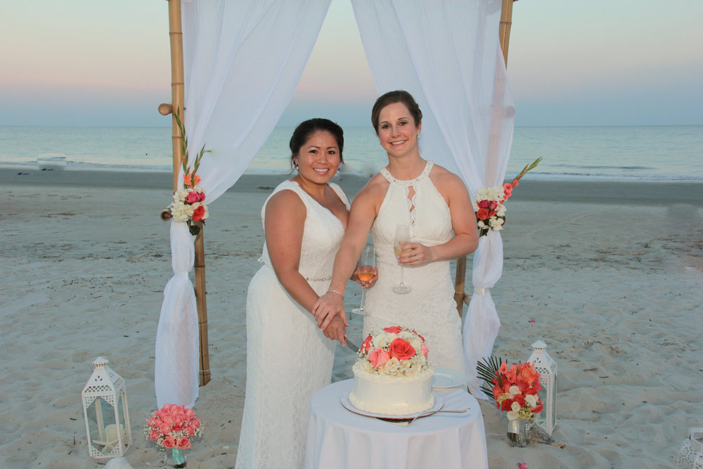 Hilton Head Beach wedding, same sex marriage, wedding packages