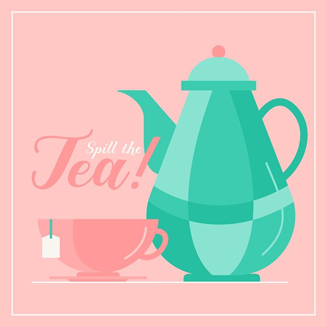 It's Tea Time! 🍵 This week, get a kick from a favorite here at GLL — Raindrop! This lovely family comes in three styles and SO many fun stylistic alternatives! #greatlakeslettering #fonts #illustraton #typelove #handlettering #type #typography #raindrop #teatime #whatsthetea #script