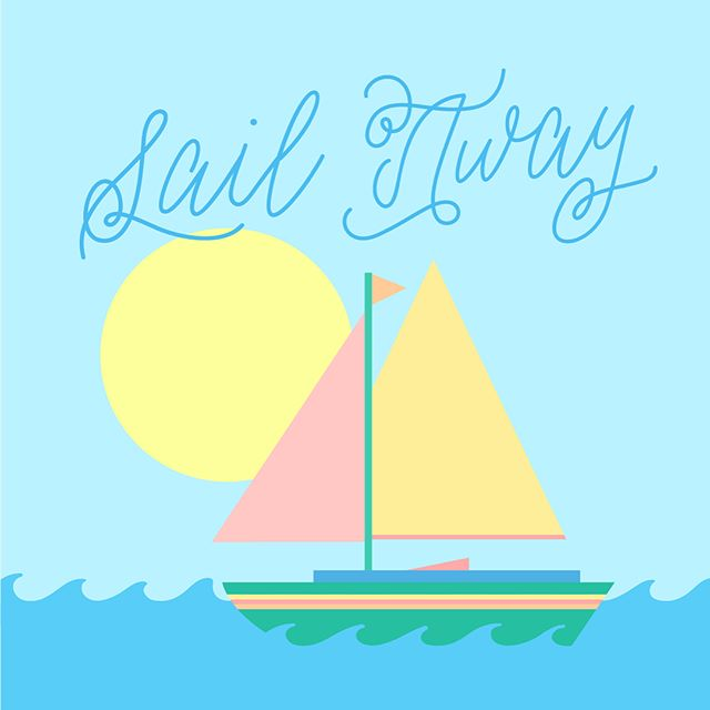 Sail Away! ⛵️ Daydreaming of warmer weather and this week's lovely little font family: Asterism. Asterism comes in three weights - monoline, regular and bold. This calligraphy style font features a moving baseline and lots of shining personality. 🌞 This dreamy font family could be alll yours for $30! #typelove #typefoundry #design #calligraphy #asterism #fonts #fontlove #typography #illustration #sailboat #daydreaming #graphic design #flatdesign