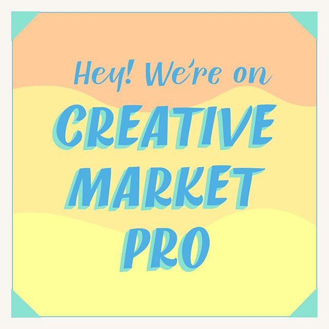 HEY! BIG news! We're now on Creative Market Pro! Haven't heard of it?  Creative Market Pro is a curated design asset monthly subscription that offers access to a library of unique fonts, graphics, templates, add-ons, photos and themes. Plans are highly customizable with options to select the number of assets you can download each month, and so much more!  Go on over to Creative Market Pro to check it out!    www.pro.creativemarket.com  #creativemarket #creativemarketpro #greatlakeslettering #fonts #handlettering #typography #typelove #fontlove #illustration #butterskotchfont