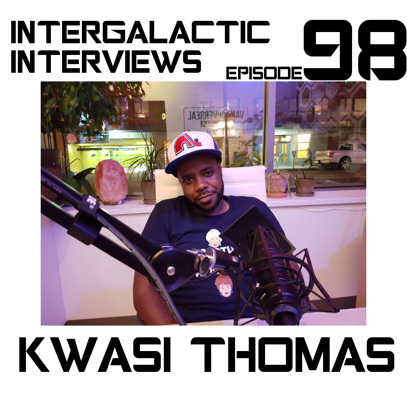 kwasi thomas intergalactic interviews episode 98 actor comedian musician rapper jayme mcdonald MD boomsday alliance