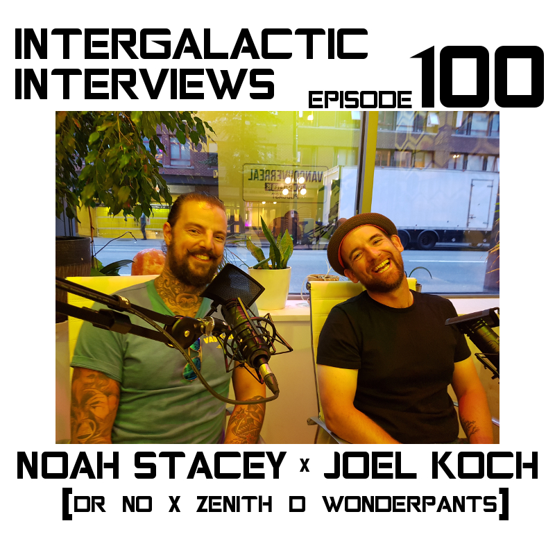 intergalactic interviews episode 100 noah stacey zenith d wonderpants joel koch MD boomsday alliance jayme mcdonald