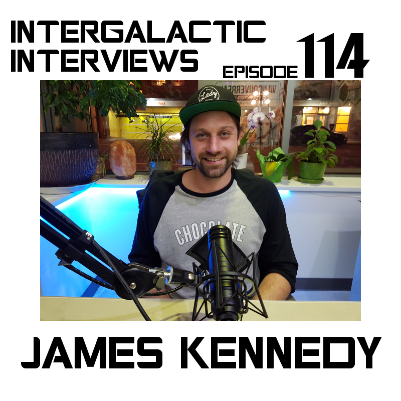 james kennedy comedian intergalactic interviews episode 114 md of the boomsday alliance podcast jayme mcdonald