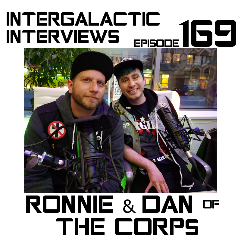 the corps tales from 2814 podcast episode 169 intergalactic interviews ronnie ellis dan garrison dan stenning andrew pedersen punk rock comic brightest day darkest night jayme mcdonald broken nose story