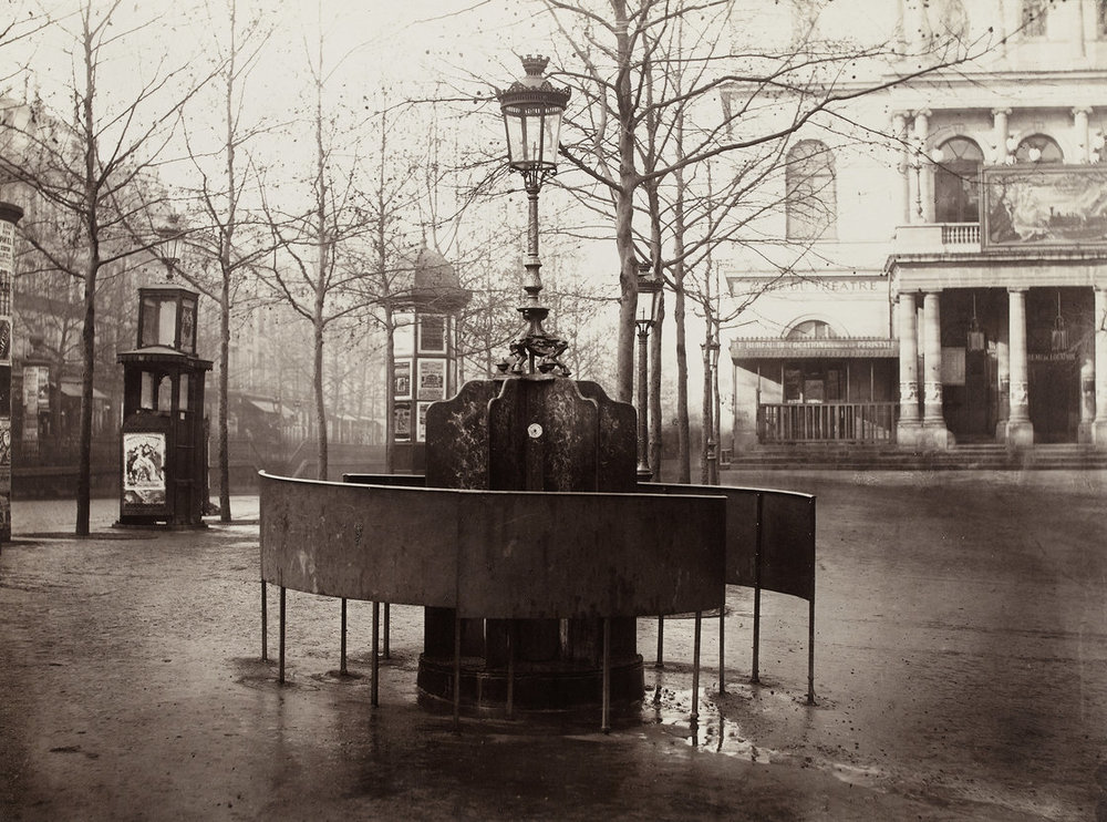 Public urinals as seen in 1876, a symbol of the city's modernity.