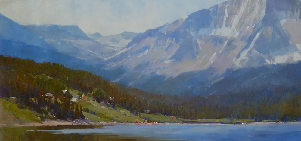 """Trout Lake"" 34x80, Commission."
