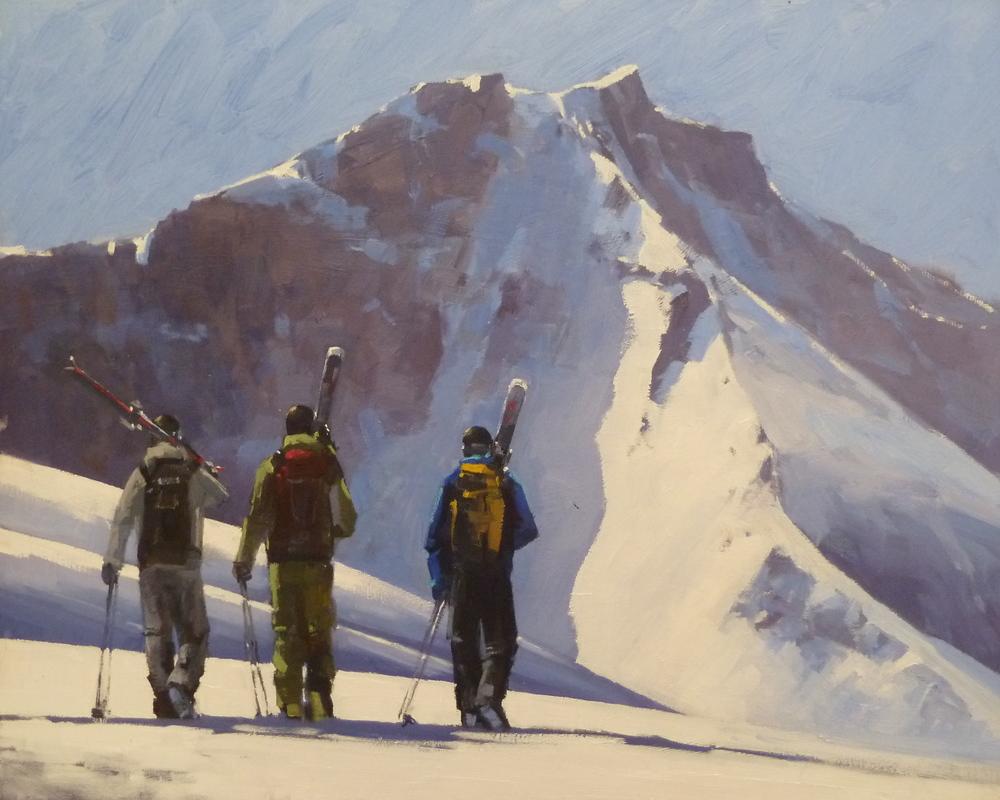 """""""Palmyra Skiers"""" 16x20, Commission."""